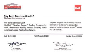 Sky Tech Construction is GAF certified!