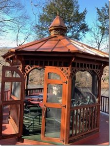 New roof for gazebo, Ringwood, NJ 07456